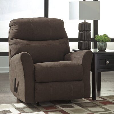 Montufar Manual Rocker Recliner Upholstery: Walnut