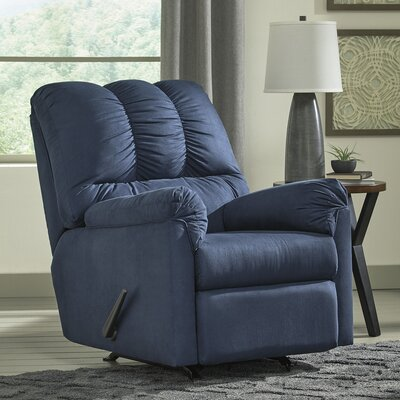 Parthena Manual Rocker Recliner Upholstery: Blue