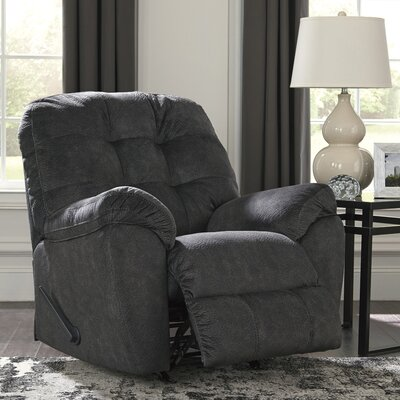 Parthena Manual Rocker Recliner Upholstery: Granite
