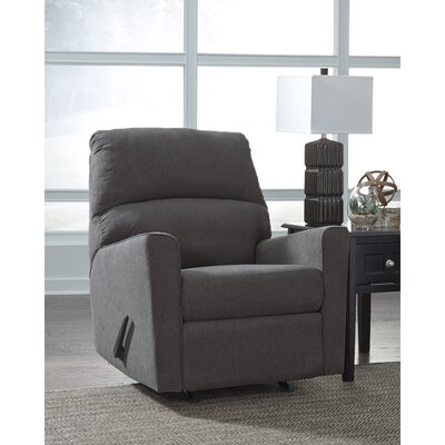 Parthena Manual Rocker Recliner Upholstery: Charcoal