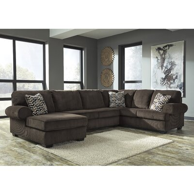 Parthena Sectional Upholstery: Chocolate, Orientation: Right Hand Facing