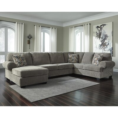 Parthena Sectional Upholstery: Gray, Orientation: Right Hand Facing