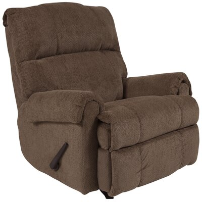 Otis Manual Rocker Recliner Upholstery: Bark