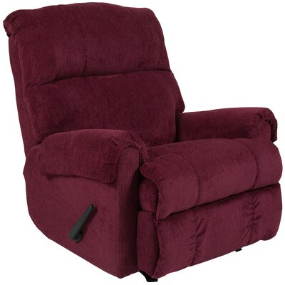 Otis Manual Rocker Recliner Upholstery: Burgundy