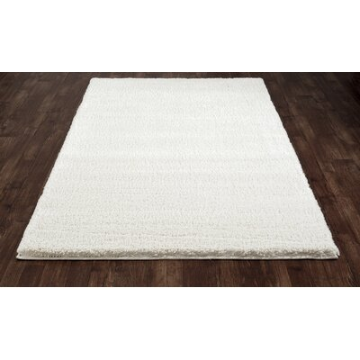 Hickey Plush Pile Shag White Area Rug Rug Size: Rectangle 53 x 72