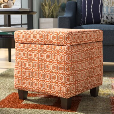 Reeves Storage Ottoman Upholstery: Orange