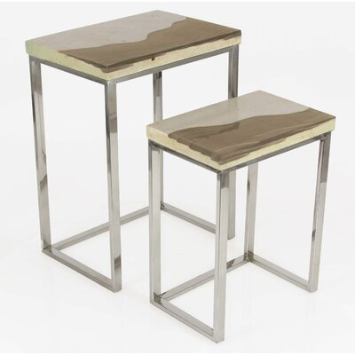 Wardingham Contemporary 2 Piece Nesting Tables