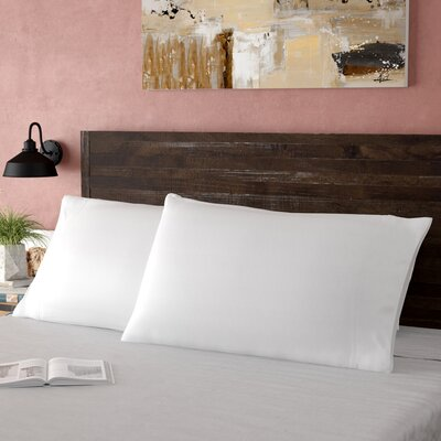 Haleigh 310 TC 100% Cotton Pillowcase Set Size: Standard, Color: White