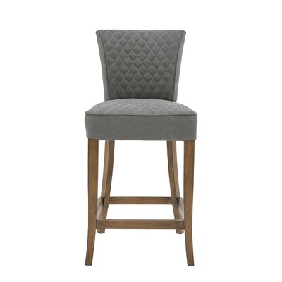 Highline Quilted Bar Stool Upholstery: Dark Gray