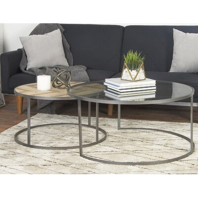 Orkney Contemporary Round 2 Piece Coffee Table Set