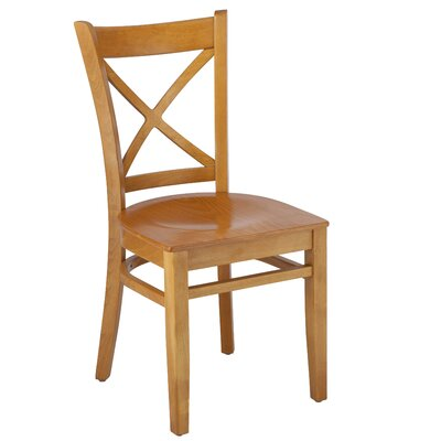 Helsel Cross Back Solid Wood Dining Chair (Set of 2) Color: Cherry