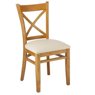 Helms Cross Back Solid Wood Dining Chair (Set of 2)