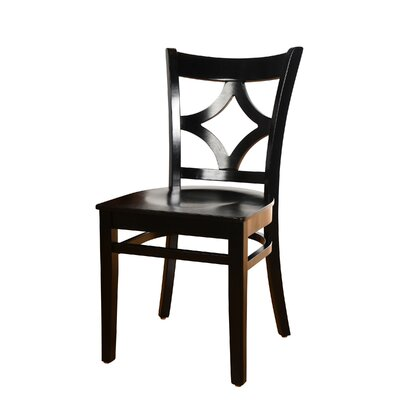 Fralick Solid Wood Dining Chair (Set of 2) Color: Espresso