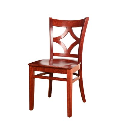 Fralick Solid Wood Dining Chair (Set of 2) Color: Mahogany
