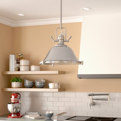 Chiaramonte 1-Light Inverted Pendant Finish: Brushed Nickel