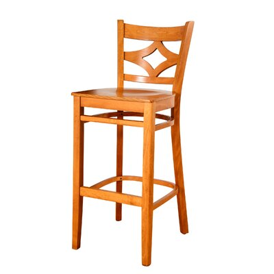 Fralick 30 Bar Stool Color: Cherry