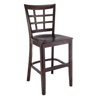 Harner 24 Bar Stool Color: Walnut