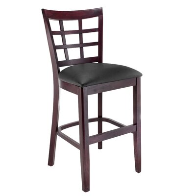 Harner 24 Bar Stool Color: Dark Mahogany