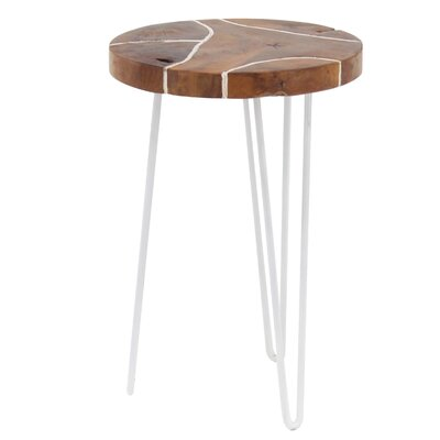 Opperman End Table Color: White