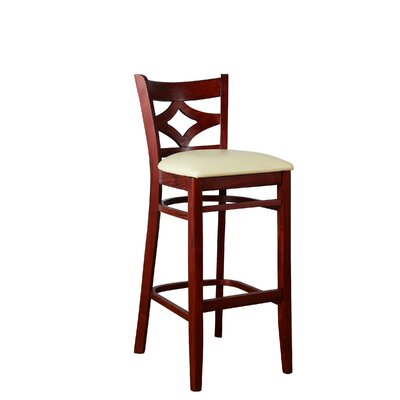 Fralick 30 Bar Stool Color: Mahogany