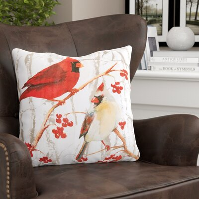 Letourneau Cardinal Pair Throw Pillow