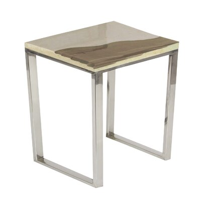 Markey End Table Color: Brown