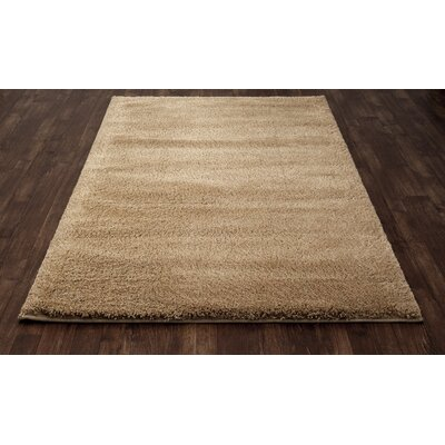 Hickey Plush Pile Shag Desert Sand Area Rug Rug Size: Rectangle 67 x 96