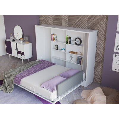 Hansell Queen Storage Murphy Bed Color: Semi-gloss white