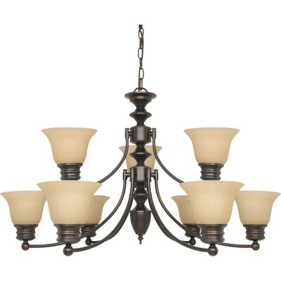 Katzer 9-Light Candle-Style Chandelier Shade Color: Champagne