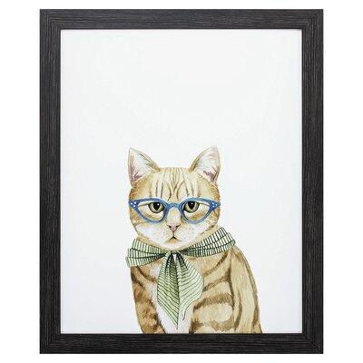 'Cool Cat IV' Framed Graphic Art Print A826D946B1D84EB69EEE406F1CD2C59E