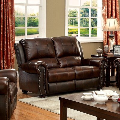 Bettis Loveseat Upholstery: Brown
