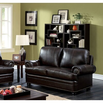 Hightower Loveseat Upholstery: Dark Brown