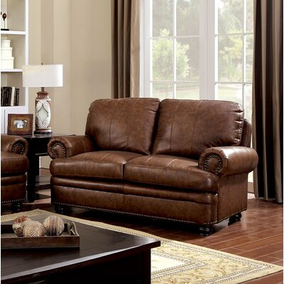 Hightower Loveseat Upholstery: Brown