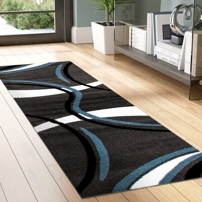 Allison Gray/White Area Rug Rug Size: Rectangle 7'3