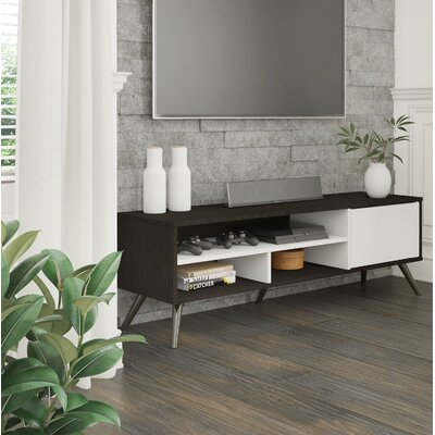 Daleville 53.5 TV Stand Color: Deep Gray/White