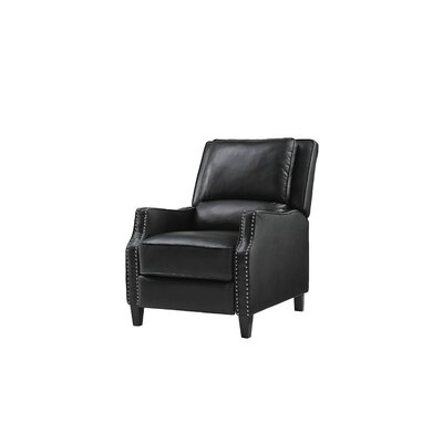 Gillies Manual Recliner Upholstery: Black