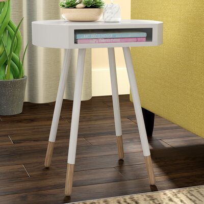 Camire End Table Color: White