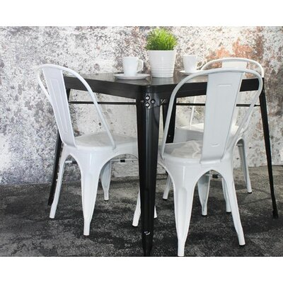 Helsley Cafe Dining Chair (Set of 4) Color: White