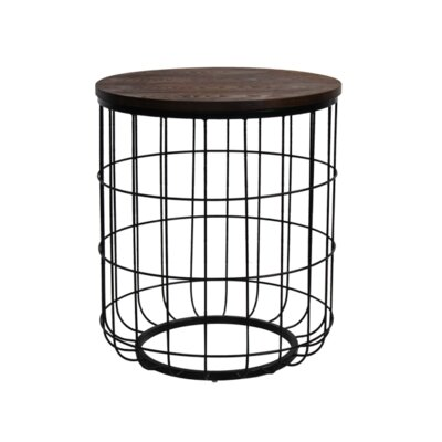 Helsel Industrial Wire End Table