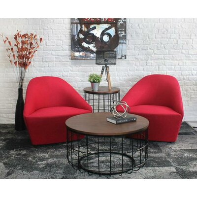 Helsel Industrial Wire 2 Piece Coffee Table Set
