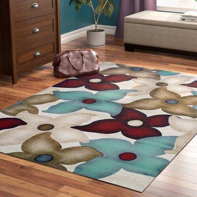 Carlee Sand/Garnet Area Rug Rug Size: Rectangle 5 x 77