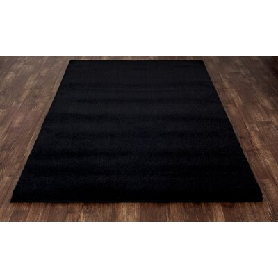 Hickey Plush Pile Shag Ebony Area Rug Rug Size: Rectangle 22 x 33