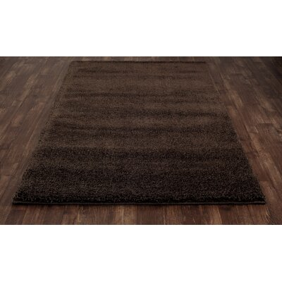 Hickey Plush Pile Shag Chateau Brown Area Rug Rug Size: Rectangle 910 x 1210