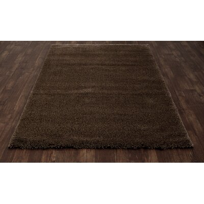 Hickey Plush Pile Shag Mocha Area Rug Rug Size: Rectangle 53 x 72