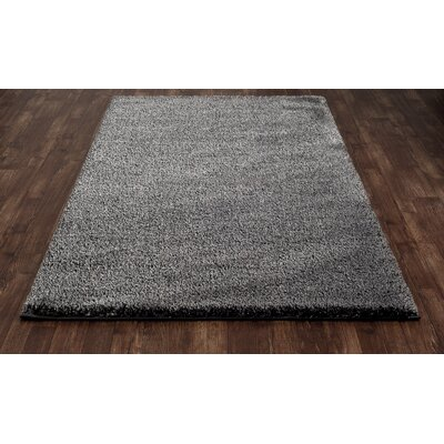 Hickey Plush Pile Shag Gray Pewter Area Rug Rug Size: Rectangle 53 x 72