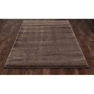 Hickey Plush Pile Shag Dark Camel Area Rug Rug Size: Rectangle 34 x 55
