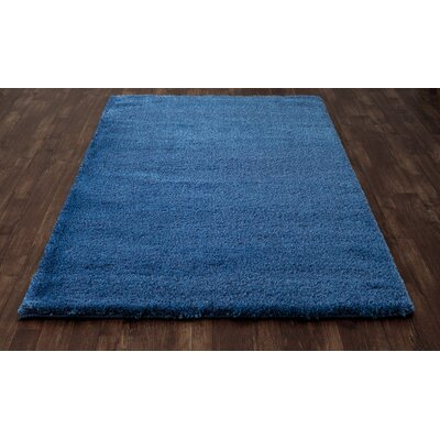 Hickey Plush Pile Shag Bahama Blue Area Rug Rug Size: Rectangle 53 x 72