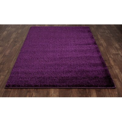 Hickey Plush Pile Shag Mulberry Area Rug Rug Size: Rectangle 53 x 72