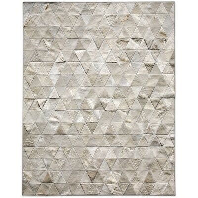 One-of-a-Kind Bellefonte Patchwork Hand-Woven Cowhide Gray Area Rug