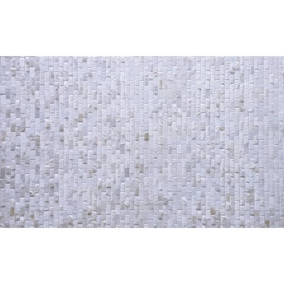 One-of-a-Kind Belle Patchwork Hand-Woven Cowhide Off White Area Rug